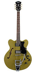 Hofner 2014 Bigsby guitar in Matt Olive