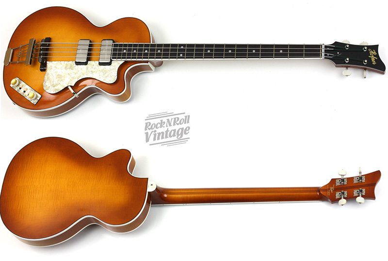 2016 new hofner club bass flame maple back, top and sides