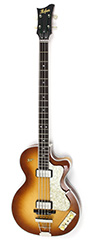 2016 Hofner Flame Maple Club bass