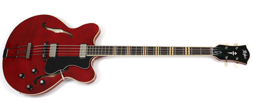 hofner red verythin bass