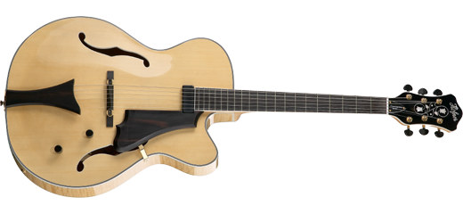 hofner hct j17 archtop guitar in natural finish