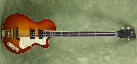 custom sunburst club 500/2 hofner bass